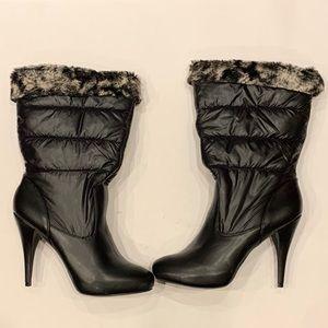 Steve Madden Stiletto Heeled Boots With Fur W Sz10